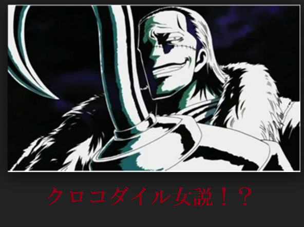 No.003 クロコダイル女説